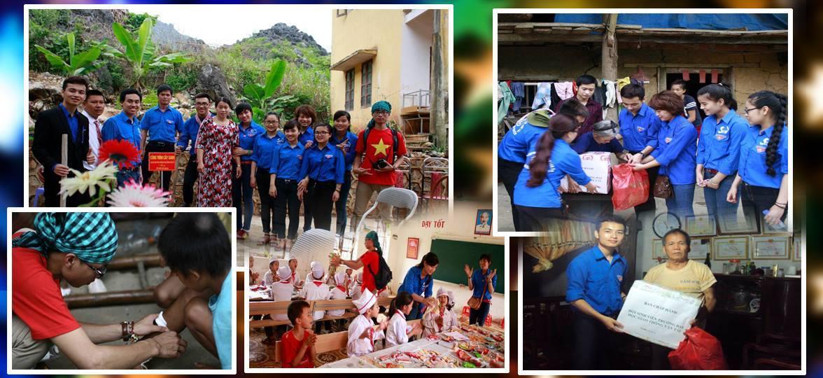 Bảo Toọc cùng tình nguyện viên trồng cây xanh lưu niệm nhân chuyến tình nguyện tại Trường tiểu học Hữu Vinh, huyện Yên Minh, tỉnh Hà Giang.