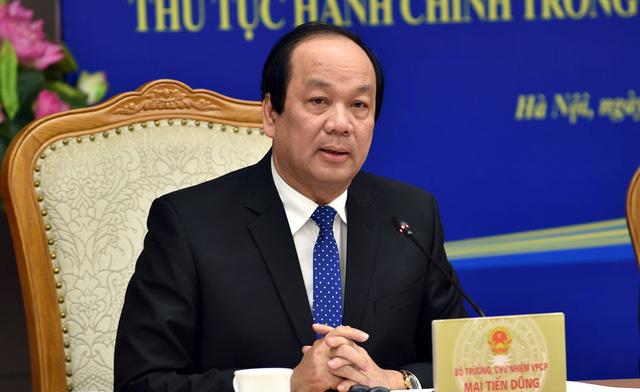Bộ trưởng, Chủ nhiệm VPCP Mai Tiến Dũng. Ảnh: Nhật Bắc