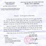 Trả lời thư bạn đọc công ty CP Chế biến nông sản Thái Bình