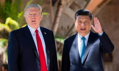 Tổng thống Mỹ Trump và Chủ tịch Trung Quốc Tập Cận Bình. Ảnh: AFP.