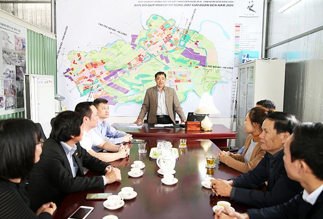 Chủ tịch HĐQT - TGĐ Lý Đình Sang quán triệt nhiệm vụ cho cán bộ chủ chốt trong Công ty chuẩn bị khởi công dự án