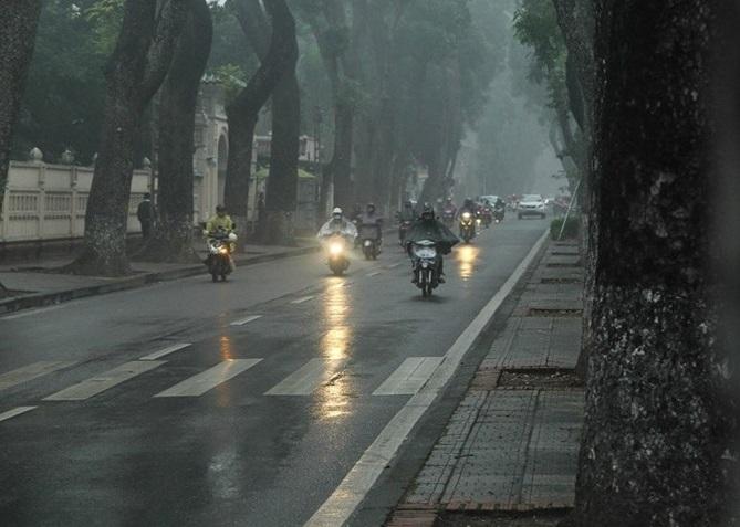 Hà Nội tiếp tục có sương mù. Ảnh: C.N