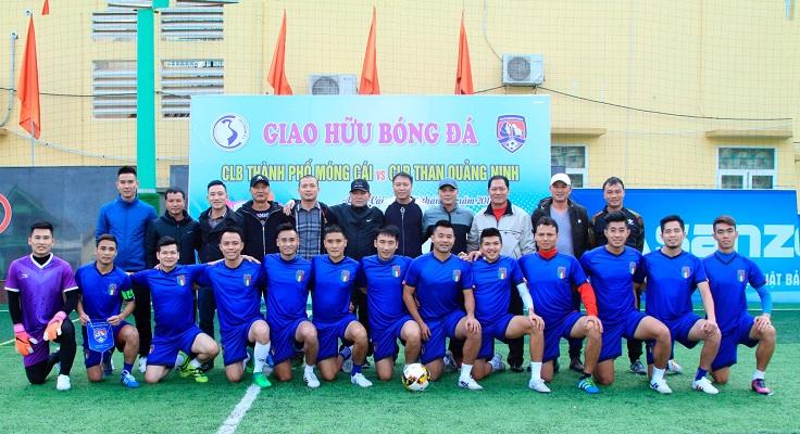 Giao hữu bóng đá với CLB Than Quảng Ninh