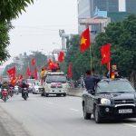 Thái Bình: Quê lúa rực rỡ cờ hoa chào đón hậu vệ Đoàn Văn Hậu