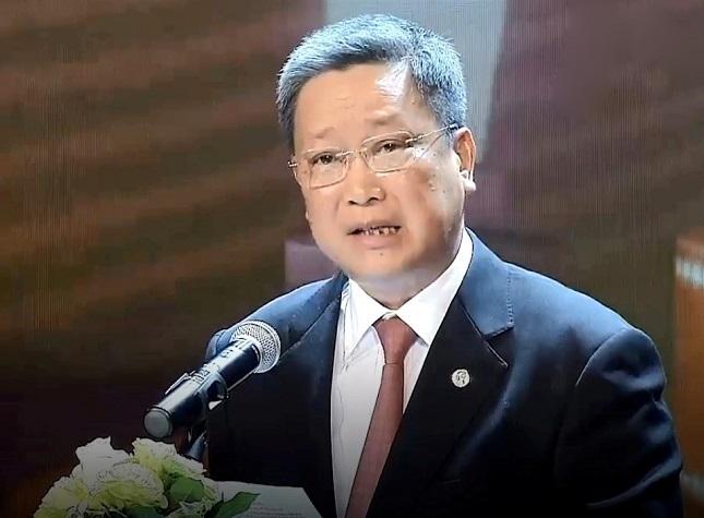 Ông Hồ Anh Tuấn – Chủ tịch Hiệp hội Phát triển văn hóa doanh nghiệp Việt Nam phát biểu khai mạc buổi lễ.