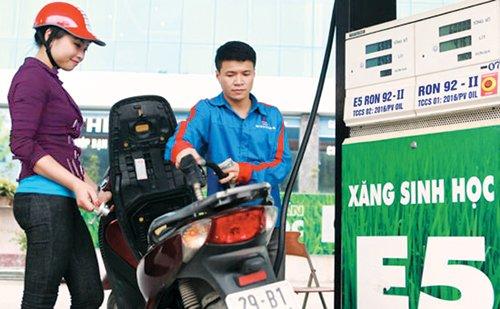 Giá xăng tăng.