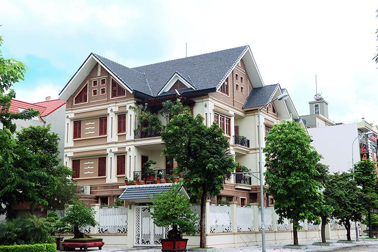 Công trình sử dụng sản phẩm ngói tráng cao cấp của Gốm Đất Việt