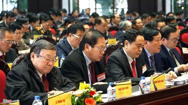 Hội nghị toàn quốc về công tác tổ chức xây dựng Đảng diễn ra sáng 19/1. Ảnh: Phạm Duy.