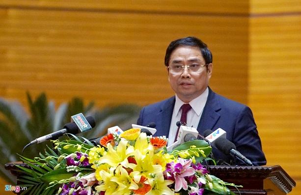 Trưởng ban Tổ chức Trung ương Phạm Minh Chính phát biểu khai mạc Hội nghị. Ảnh: Phạm Duy.