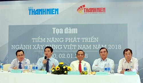 Với 12,8 tỉ USD giá trị trong năm 2017, ngành xây dựng ở Việt Nam sẽ tiếp tục tăng trưởng nóng trong năm 2018, theo các chuyên gia và doanh nghiệp.