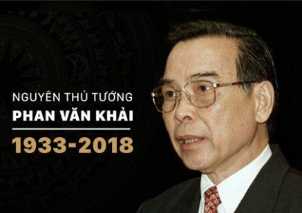 Nguyên Thủ tướng Phan Văn Khải từ trần ở tuổi 85