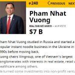 Lộ khối tài sản, Phạm Nhật Vượng có 7 tỷ USD: Top 100 giàu nhất hành tinh