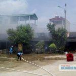 Thanh Hóa: Cháy dữ dội thiêu rụi 5 ki ốt ở chợ huyện Nga Sơn