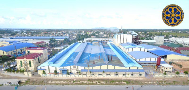 Nhà máy sản xuất gạch ốp lát tại KCN Lễ Môn - Thanh Hóa.