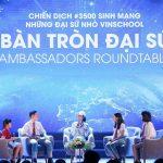 """Ngôi sao điện ảnh Dương Tử Quỳnh thảo luận bàn tròn với các """" Đại sứ nhỏ"""" Vinschool trong chiến dịch 3500Lives"""