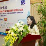 Họp báo giải thưởng chất lượng quốc gia bài phát biểu của bà Trần Uyên Phương phó TGĐ tập đoàn Tân Hiêp Phát