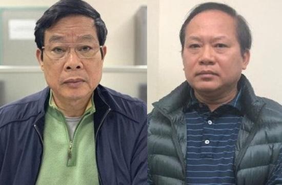 Bị can Nguyễn Bắc Son (trái) và bị can Trương Minh Tuấn. (Ảnh: Bộ Công an).