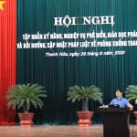 Thanh Hóa –  tổ chức hội nghị bồi dưỡng kiến thức pháp luật về phòng, chống tham nhũng