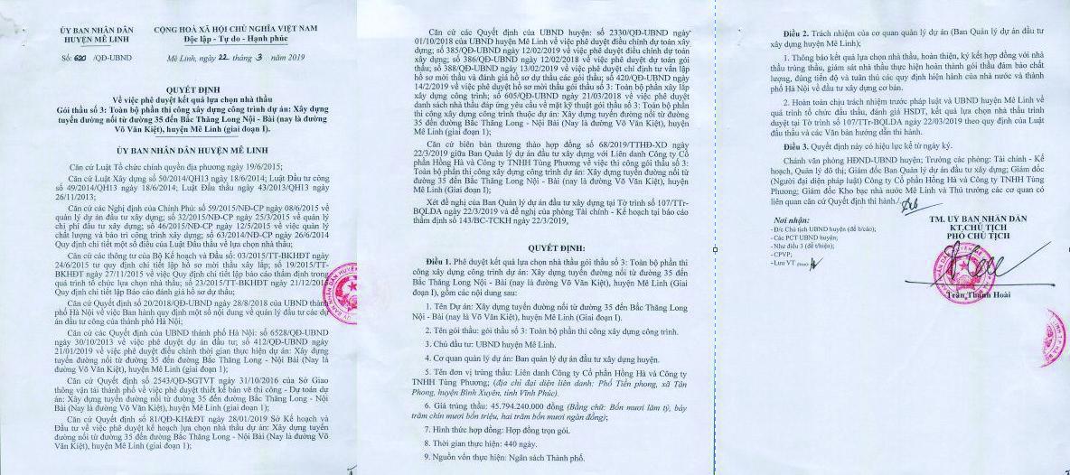 UBND phường Xuân Hòa,Tp Phúc Yên, Tỉnh Vĩnh Phúc: Công tác đấu thầu có thực sự minh bạch ?