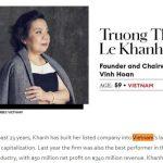 Forbes chọn 25 nữ doanh nhân quyền lực nhất châu Á 2020: Việt Nam có 2 đại diện