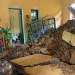 Một lớp học bị vùi lấp, nhiều ngôi trường bị hư hại do sạt lở đất đá ở Lào Cai