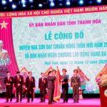 Huyện Nga Sơn đạt chuẩn nông thôn mới và đón nhận Huân chương Lao động hạng Ba