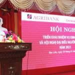 Agribank tỉnh Bạc Liêu: Triển khai nhiệm vụ kinh doanh và Hội nghị đại biểu người lao động năm 2021