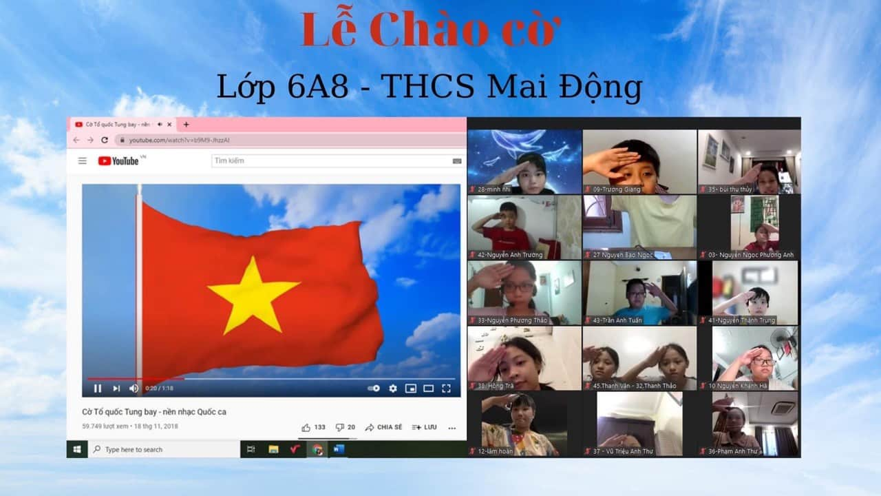 Thầy trò trường THCS Mai Động tựu trường Online