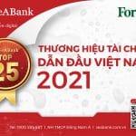 SeABank nằm trong Top 25 Thương hiệu tài chính dẫn đầu và Top 10 Thương hiệu mạnh Việt Nam ngành ngân hàng – dịch vụ tài chính